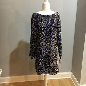 Tibi animal print silk open-back dress